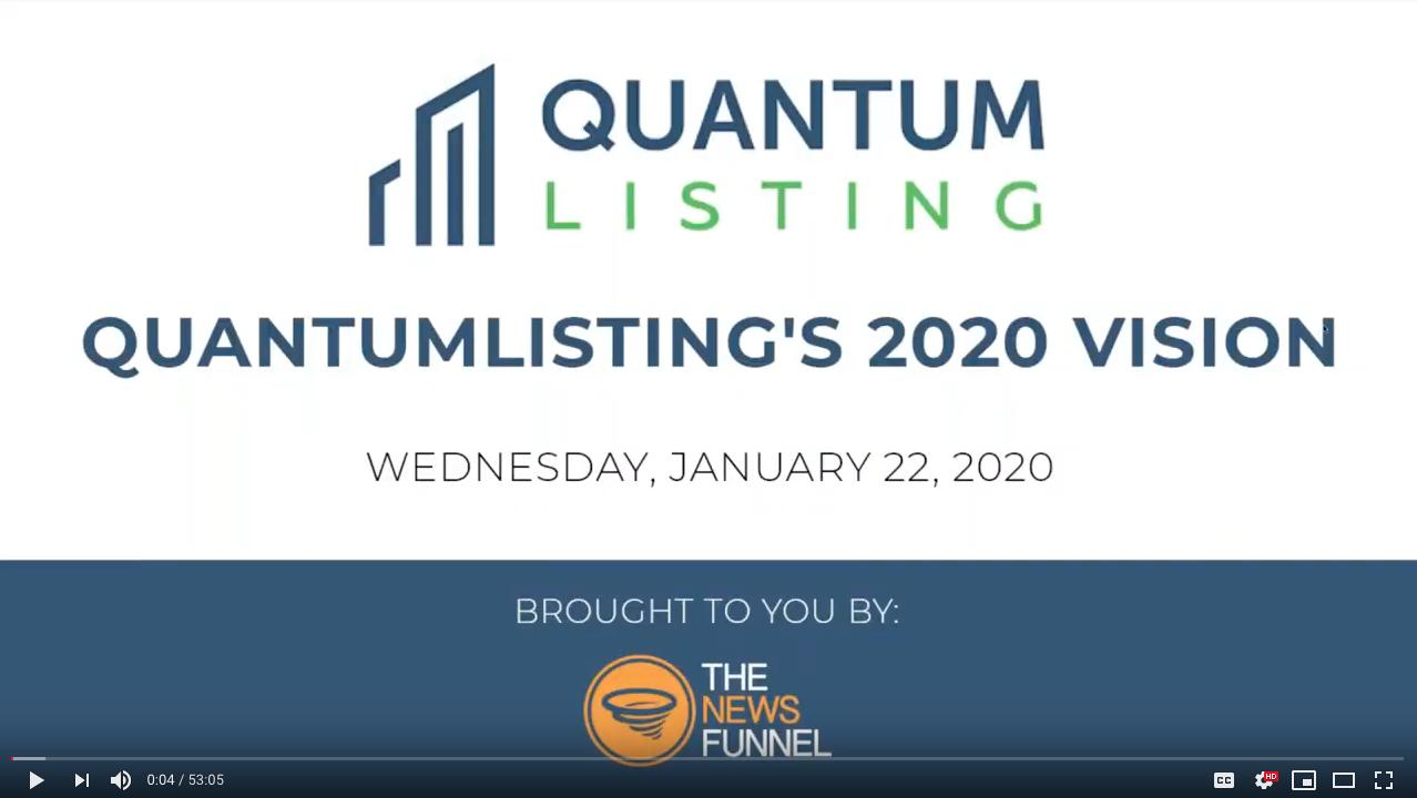 QuantumListing's 2020 Vision