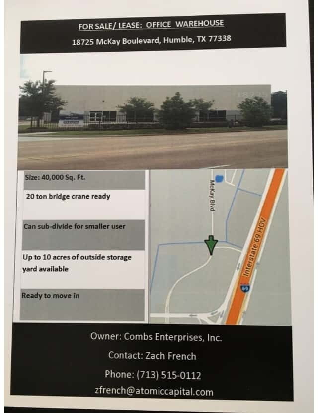 Office/Warehouse for Sale - Humble, TX