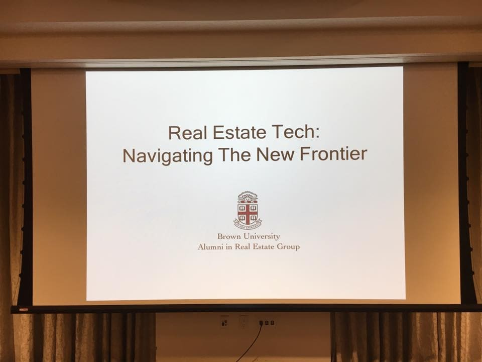 Brown University Real Estate Group Real Estate Technology Event