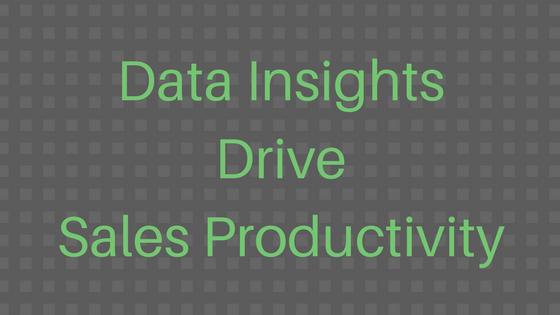 #LetsGetSmart - Data Insights Drive Sales Productivity