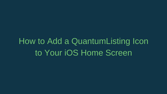 The QuantumListing iOS Shortcut
