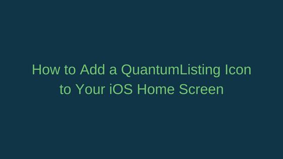 The QuantumListing iOS Shortcut