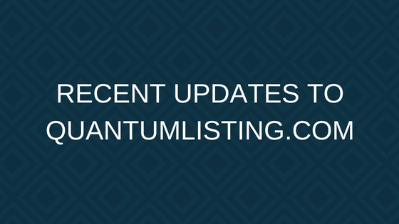 RECENT UPDATES TO QUANTUMLISTING.COM