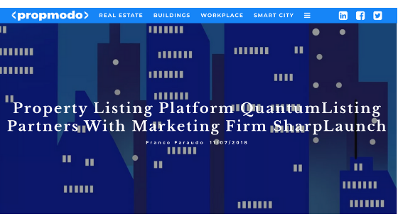 Property Listing Platform QuantumListing Partners with Marketing Firm SharpLaunch