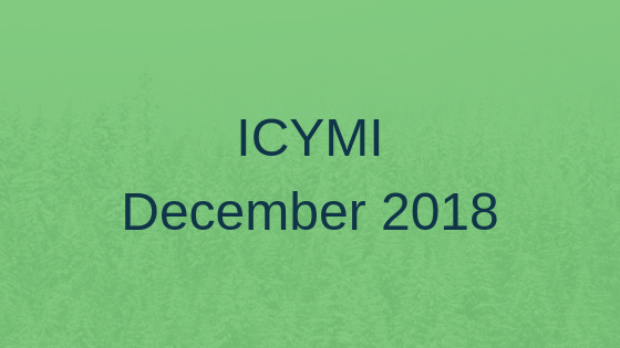 ICYMI December 2018
