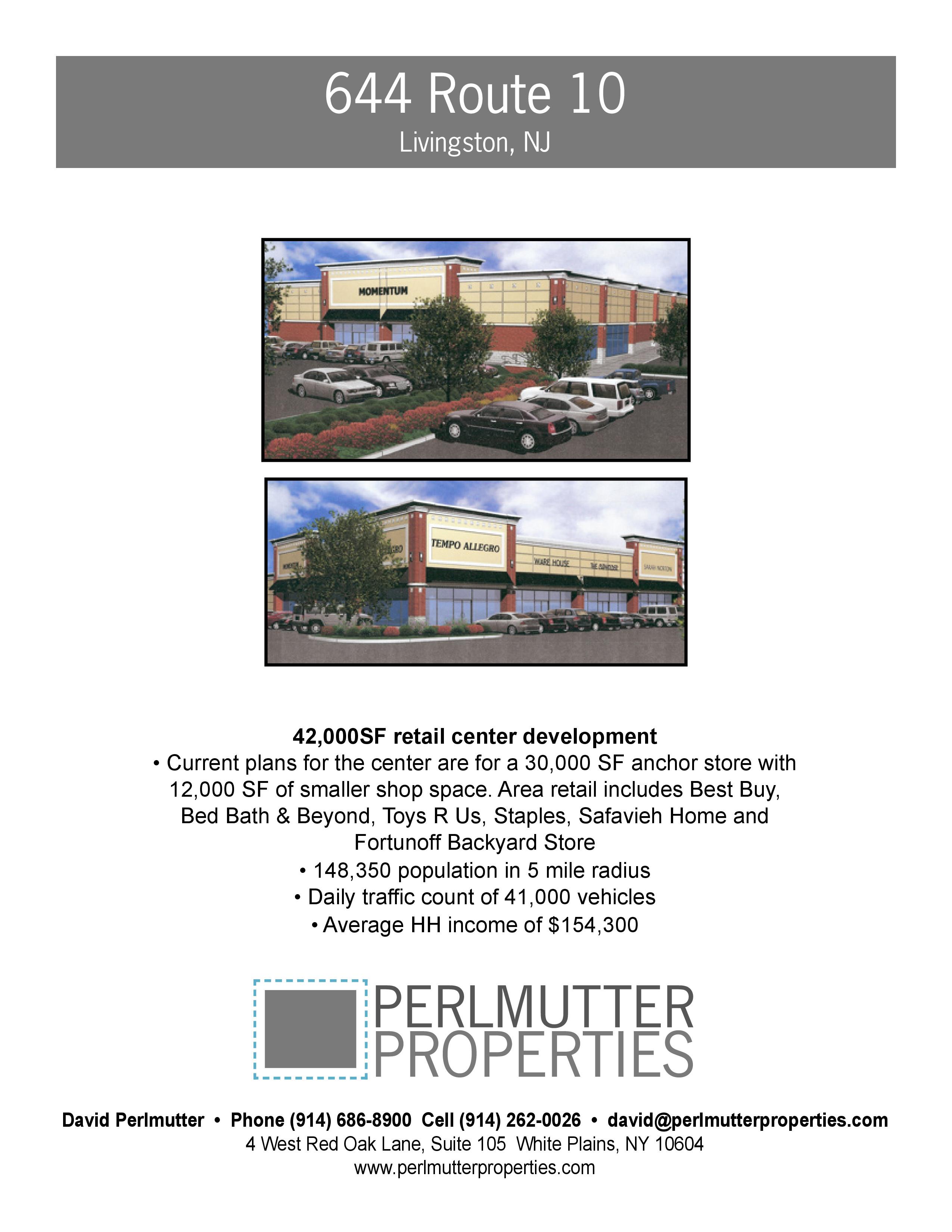 Real Estate   Development Site   644 Rt. 10 Livingston NJ | QuantumListing