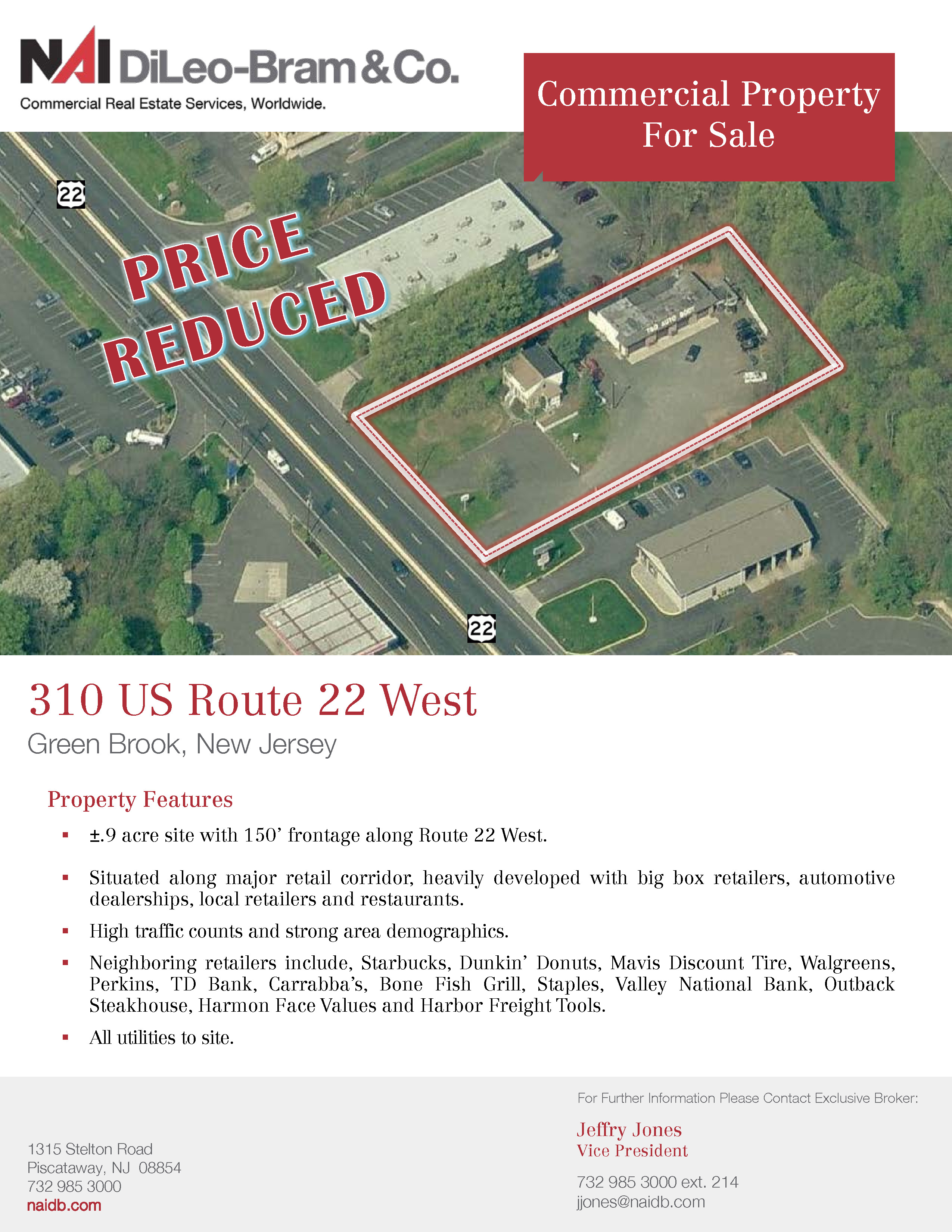 Green Brook Nj >> Commercial Property For Sale 310 Rt 22 West Green Brook Nj
