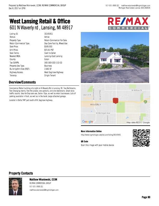 West Lansing Retail & Office, 601 N Waverly Rd , Lansing, MI 601