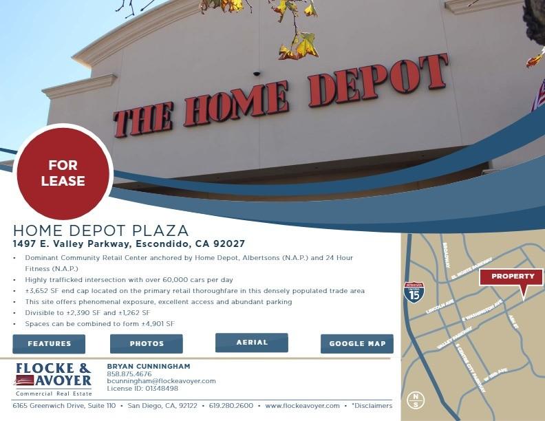 Home Depot Plaza 1497 e Valley Parkway, Escondido, CA 92027 ...