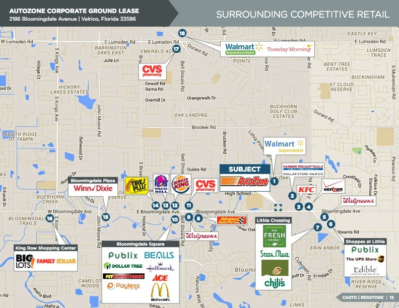 AutoZone Corporate Ground Lease - 2186 BLOOMINGDALE ROAD VAL 2186